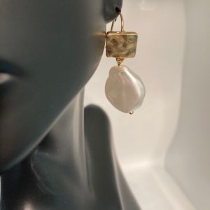 Little Something Pearl and Gold Dangle Earrings